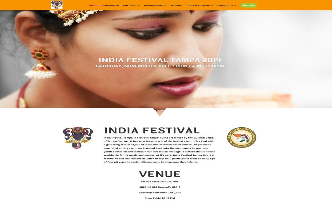 Recent Work Best Website Design Tampa-India Fest Tampa 2019( (open in new tab)